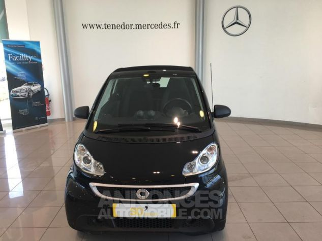Smart Fortwo Cabriolet 71ch mhd Passion Softouch Noir Occasion - 0