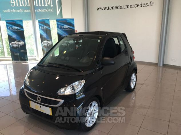 Smart Fortwo Cabriolet 71ch mhd Passion Softouch Noir Occasion - 1