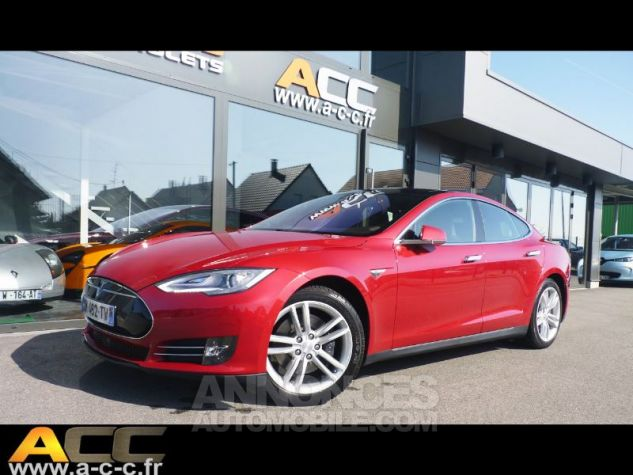 Tesla MODEL S 85 KW ROUGE Occasion - 0