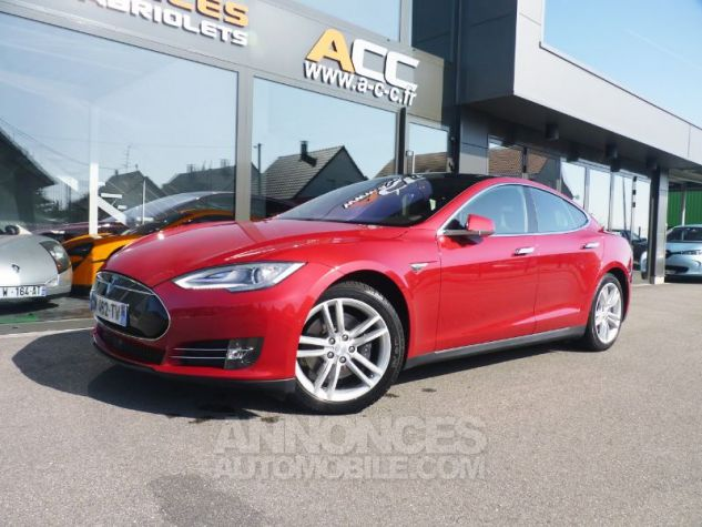 Tesla MODEL S 85 KW ROUGE Occasion - 1