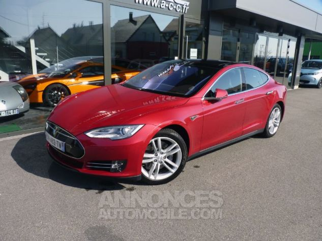 Tesla MODEL S 85 KW ROUGE Occasion - 2