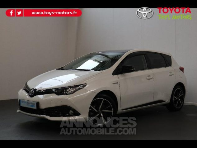 Toyota AURIS HSD 136h Collection RC18 blanche Occasion - 0