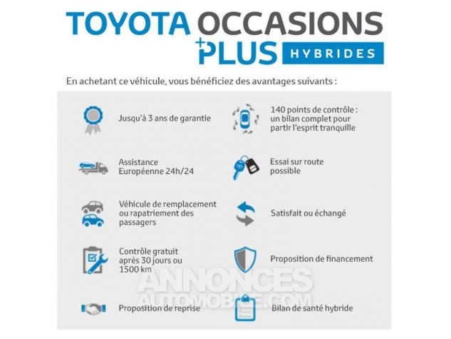 Toyota C-HR 122h Graphic 2WD E-CVT Gris Occasion - 19