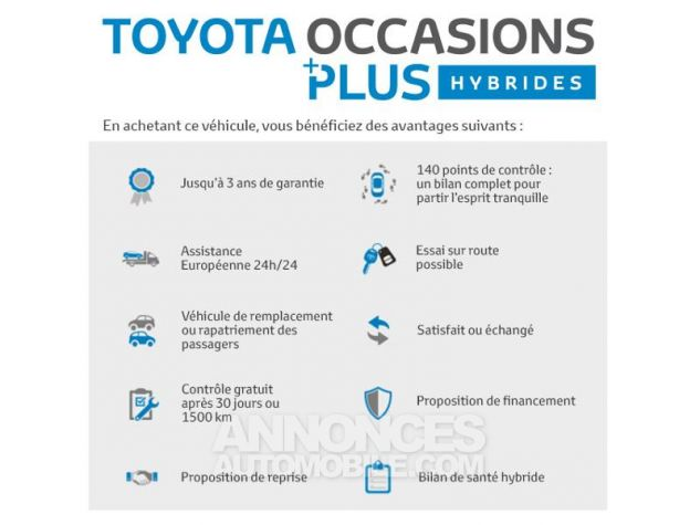 Toyota C-HR 122h Graphic 2WD E-CVT Gris Occasion - 16