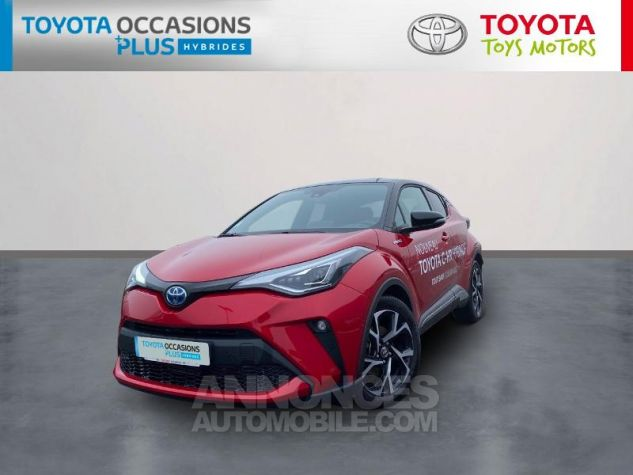 Toyota C-HR 184h Collection Bi Ton Rouge Intense Noir Occasion - 0