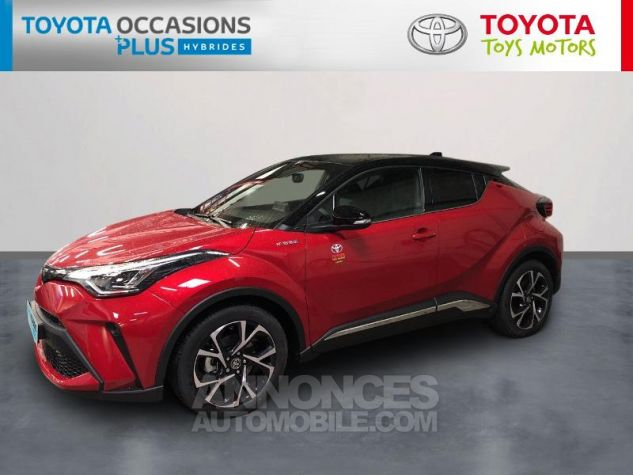 Toyota C-HR 184h Collection 2WD E-CVT MC19 Bi Ton Rouge Intense Noir Occasion - 0