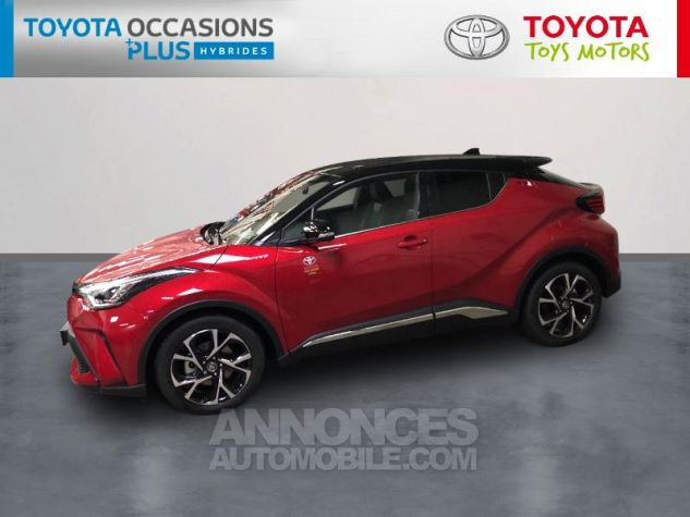 Toyota C-HR 184h Collection 2WD E-CVT MC19 Bi Ton Rouge Intense Noir Occasion - 2
