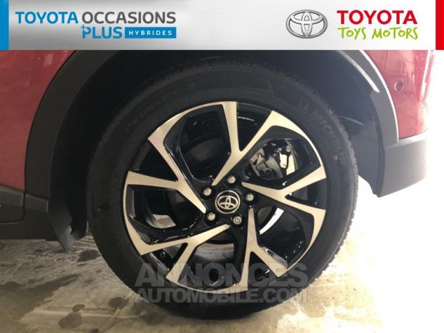 Toyota C-HR 184h Collection 2WD E-CVT MC19 Bi Ton Rouge Intense Noir Occasion - 3