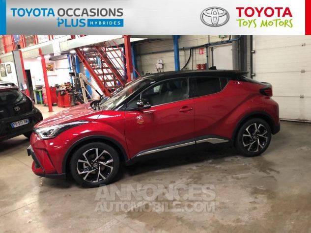 Toyota C-HR 184h Collection 2WD E-CVT MC19 Bi Ton Rouge Intense Noir Occasion - 19