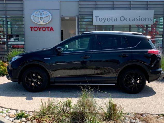 Toyota RAV4 197 Hybride Black Edition 2WD CVT NOIR Occasion - 1