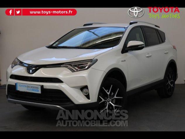 Toyota RAV4 197 Hybride Design 2WD CVT BLANC NACRE Occasion - 0