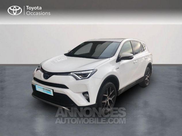 Toyota RAV4 197 Hybride Design 2WD CVT Blanc Occasion - 0