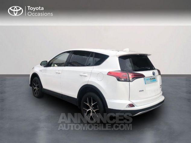 Toyota RAV4 197 Hybride Design 2WD CVT Blanc Occasion - 1