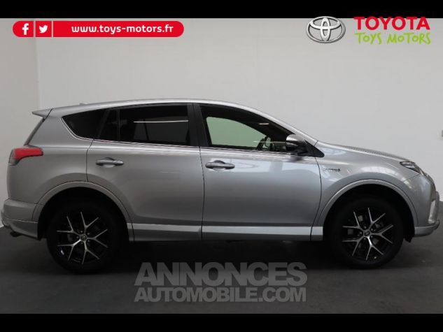 Toyota RAV4 197 Hybride Exclusive 2WD CVT Gris Clair Métal Occasion - 3