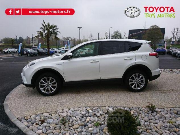 Toyota RAV4 197 Hybride Lounge 2WD CVT Blanc Occasion - 2