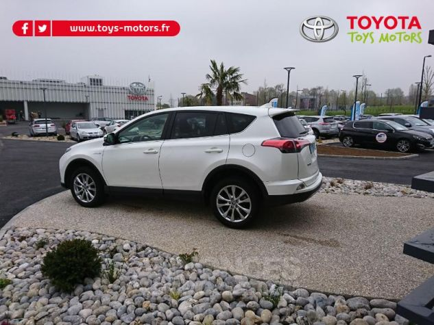 Toyota RAV4 197 Hybride Lounge 2WD CVT Blanc Occasion - 3