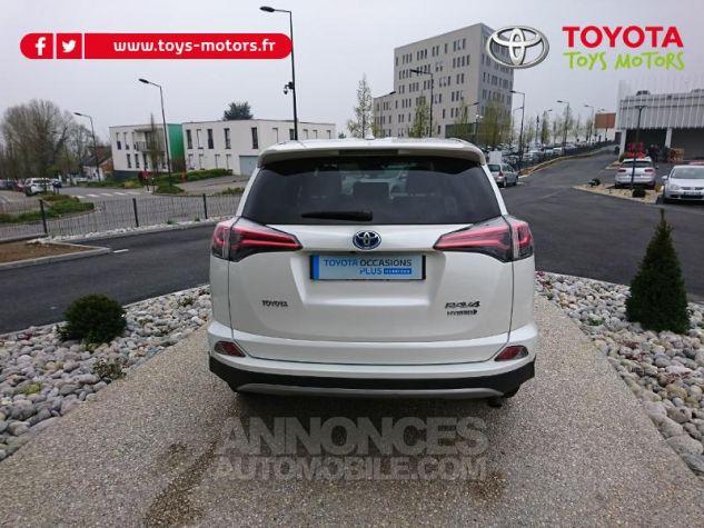 Toyota RAV4 197 Hybride Lounge 2WD CVT Blanc Occasion - 4
