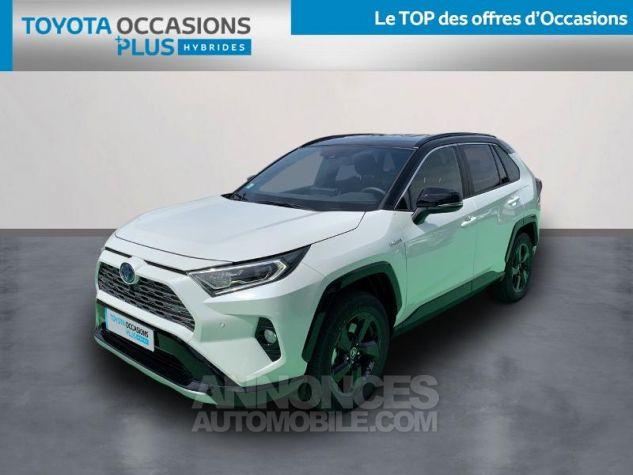 Toyota RAV4 Hybride 218ch Collection 2WD BI TON BLANC NACRE NOIR ATTITU Occasion - 0