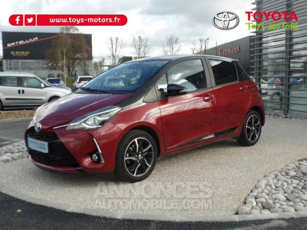 Toyota YARIS 100h Collection 5p BI TON ROUGE ALLURE   NOIR Occasion - 1