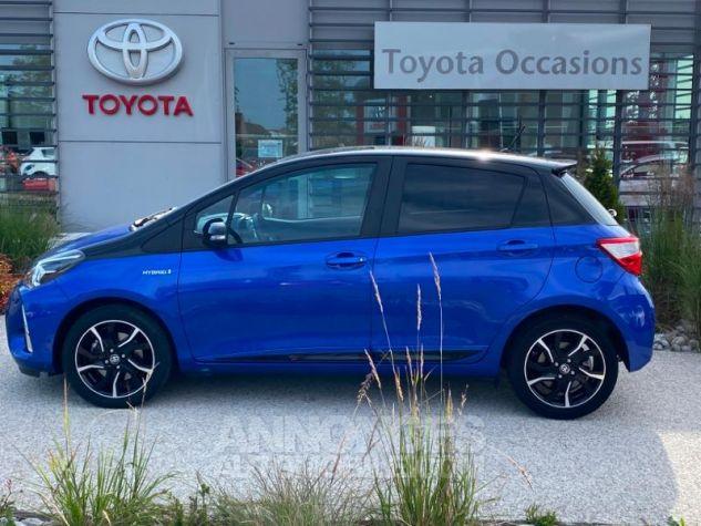 Toyota YARIS 100h Collection 5p MY19 Bi Ton Bleu Nebula Noir Occasion - 1