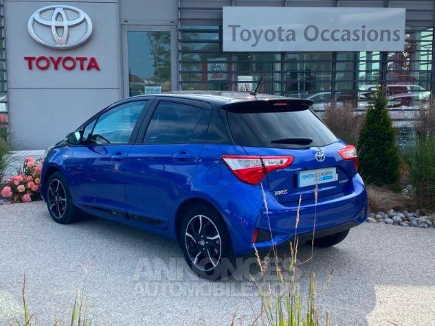 Toyota YARIS 100h Collection 5p MY19 Bi Ton Bleu Nebula Noir Occasion - 2
