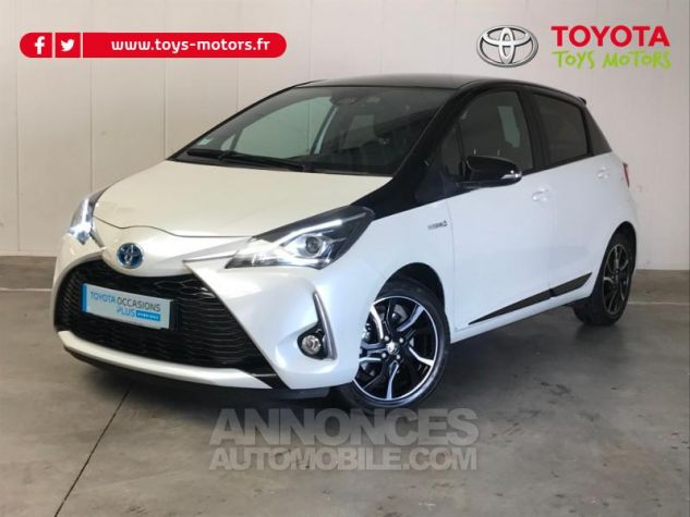 Toyota YARIS 100h Collection 5p RC18 BI TON BLANC NACRE   NOIR Occasion - 0