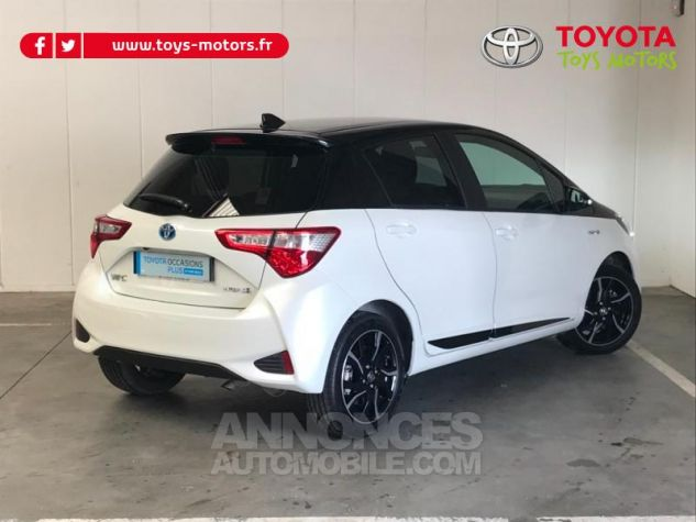 Toyota YARIS 100h Collection 5p RC18 BI TON BLANC NACRE   NOIR Occasion - 1