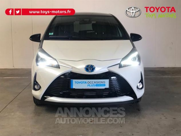Toyota YARIS 100h Collection 5p RC18 BI TON BLANC NACRE   NOIR Occasion - 2