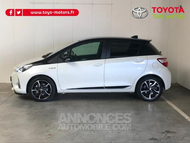Toyota YARIS 100h Collection 5p RC18 BI TON BLANC NACRE   NOIR Occasion - 3