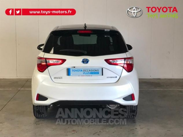 Toyota YARIS 100h Collection 5p RC18 BI TON BLANC NACRE   NOIR Occasion - 4