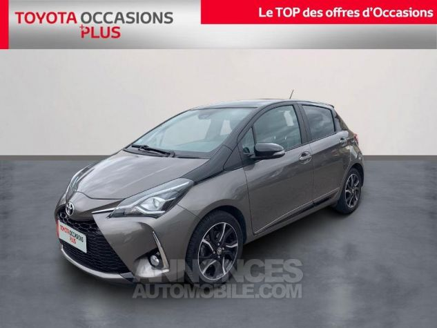 Toyota YARIS 110 VVT-i Collection 5p Gris Dune Occasion - 0