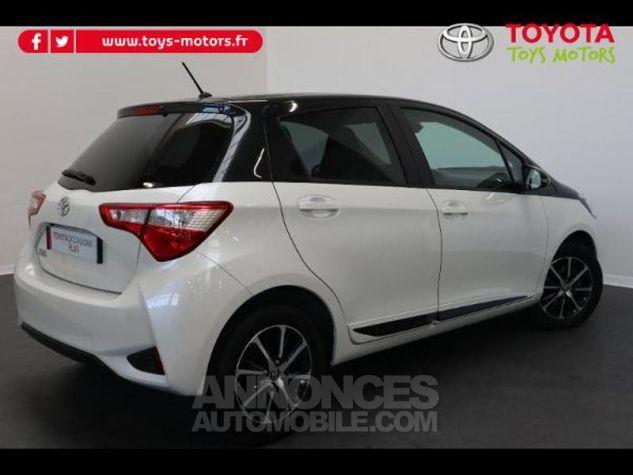 Toyota YARIS 110 VVT-i Design 5p RC18 BI TON BLANC NACRE   NOIR Occasion - 4