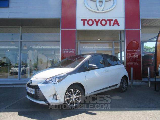 Toyota YARIS 110 VVT-i Design Y20 5p MY19 BI TON BLANC NACRE   GRIS ATL Occasion - 0
