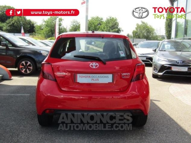 Toyota YARIS 69 VVT-i France 5p ROUGE CHILIEN Occasion - 3