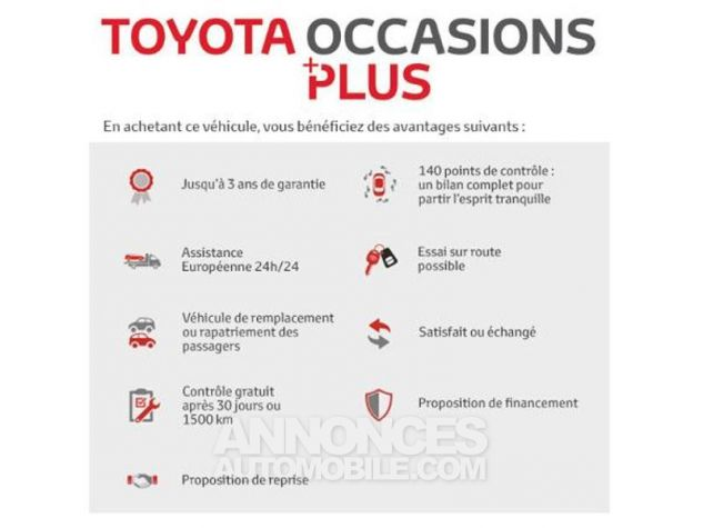 Toyota YARIS 69 VVT-i France 5p ROUGE CHILIEN Occasion - 10