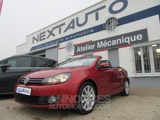 Volkswagen Golf VI CABRIOLET 1.2 TSI 105CH CARAT BLUEMOTION TECHNOLOGY Rouge Occasion - 0