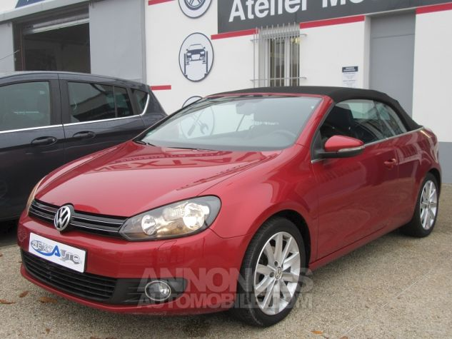 Volkswagen Golf VI CABRIOLET 1.2 TSI 105CH CARAT BLUEMOTION TECHNOLOGY Rouge Occasion - 9