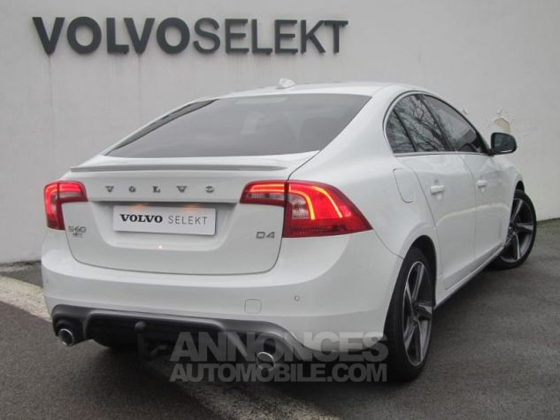 Volvo S60 D4 190ch R-Design Blanc Glace Occasion - 1