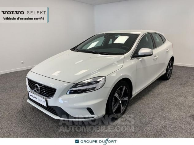 Volvo V40 D3 150ch R-Design Geartronic Blanc Glace 614 Occasion - 0