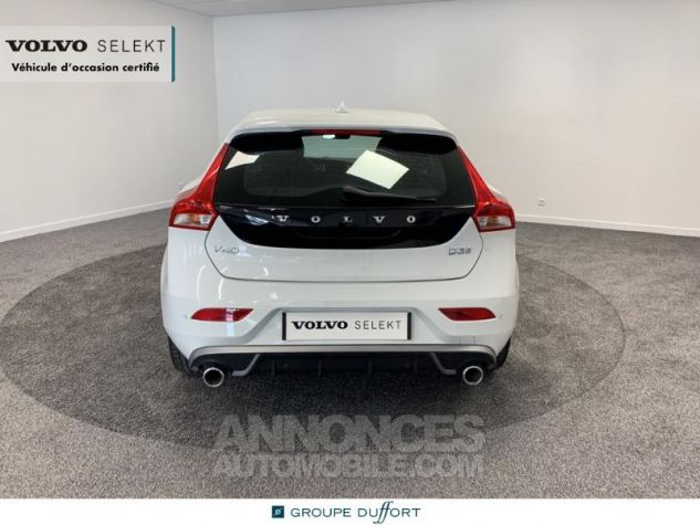 Volvo V40 D3 150ch R-Design Geartronic Blanc Glace 614 Occasion - 3