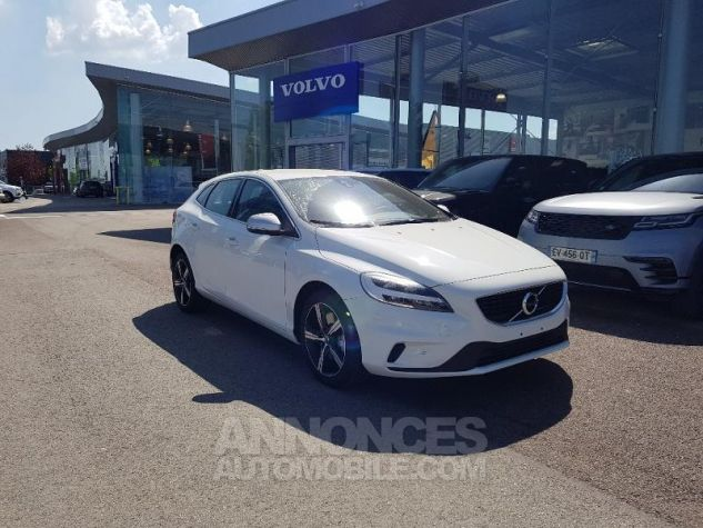 Volvo V40 T2 122ch R-Design Geartronic Blanc Glace Occasion - 0