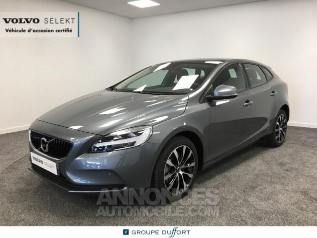 Volvo V40 T2 122ch Signature Edition Geartronic Gris Clair Métal Occasion - 0