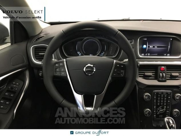 Volvo V40 T2 122ch Signature Edition Geartronic Gris Clair Métal Occasion - 3