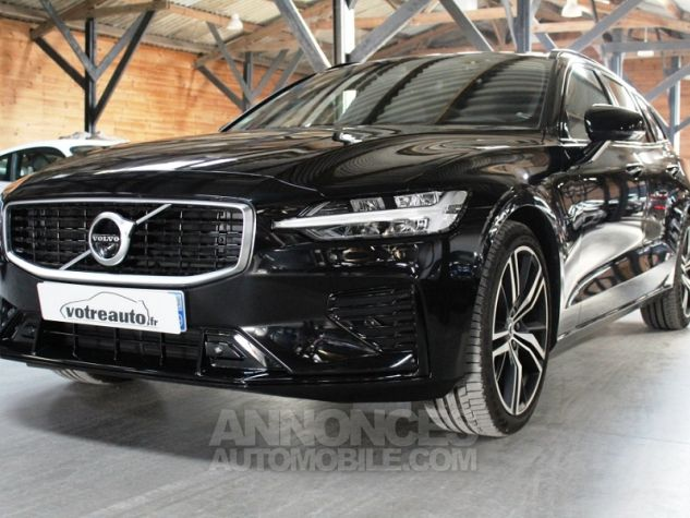 Volvo V60 (2E GENERATION) II T8 390 TWIN ENGINE R-DESIGN GEARTRONIC 8 Noir Occasion - 7