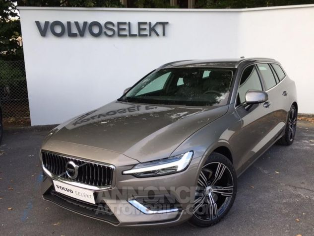 Volvo V60 D4 190ch AdBlue Inscription Geartronic Gris Clair Métal Occasion - 0