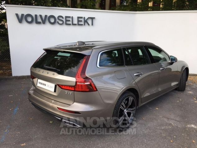 Volvo V60 D4 190ch AdBlue Inscription Geartronic Gris Clair Métal Occasion - 1