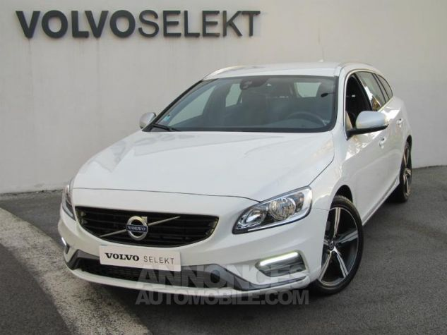 Volvo V60 D4 190ch R-Design Geartronic Blanc Glace Occasion - 0