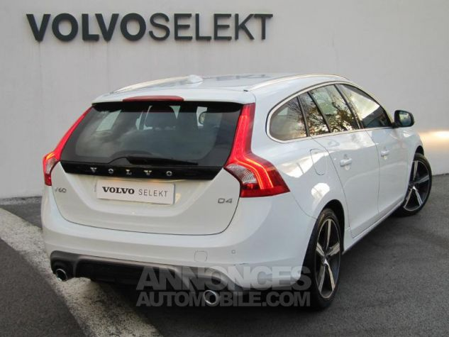Volvo V60 D4 190ch R-Design Geartronic Blanc Glace Occasion - 1