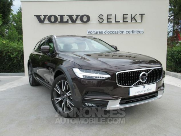 Volvo V90 D4 AWD 190ch Luxe Geartronic BRUN METAL Occasion - 0