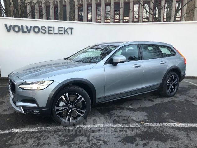 Volvo V90 D4 AWD 190ch Pro Geartronic Gris Clair Métal Occasion - 0